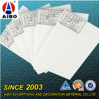 printed white pvc foam board/forex pvc foam board printing for carving