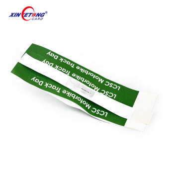 Paper Custom Printing Waterproof Custom Tyvk Wristband for Entrance wristband
