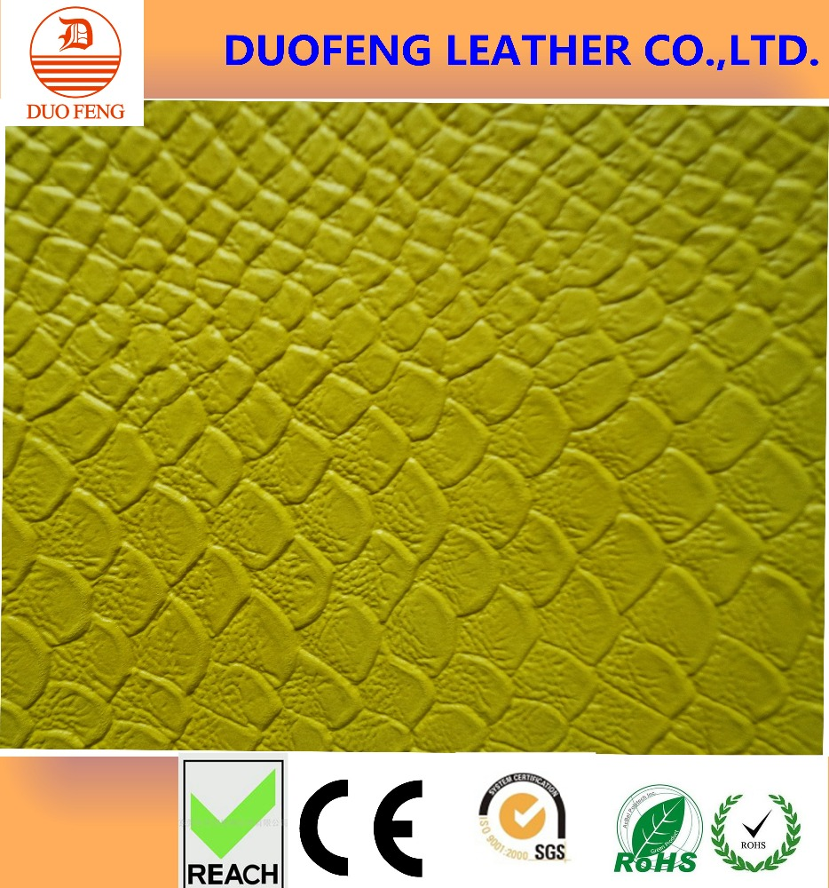 Colorful snake skin 0.75mm thick lady handbag leather
