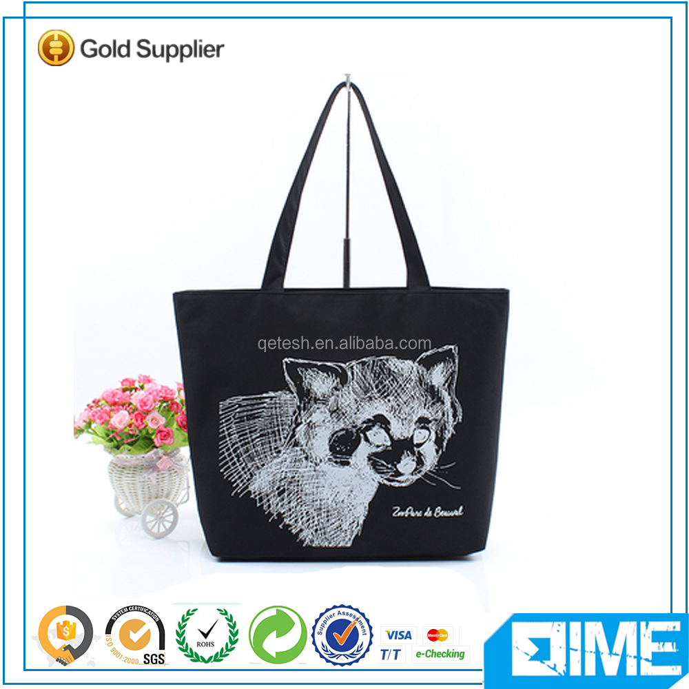 Promotion gift classic black series cotton canvas bag