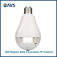 IPC360 Mobile APP Fisheye Wireless Panoramic Light Bulb Hidden IP VR Camera