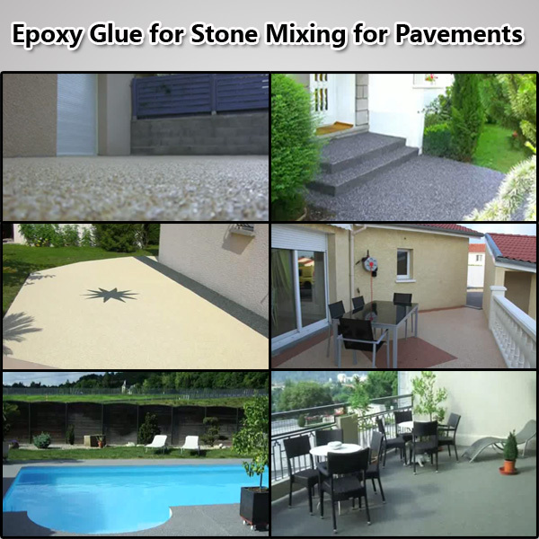 Liquid Resin for Bonding Aggregates for Garden and Backyard Pavements/Driveway/Pathway