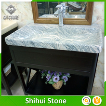 New Fashion Design Low Price Bathroom Cabinet Double Sink Granite Vanity Tops