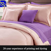 Classical home textile custom double bed sheets