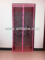 Magnetic screen doors close automatically hanging mesh screen doors
