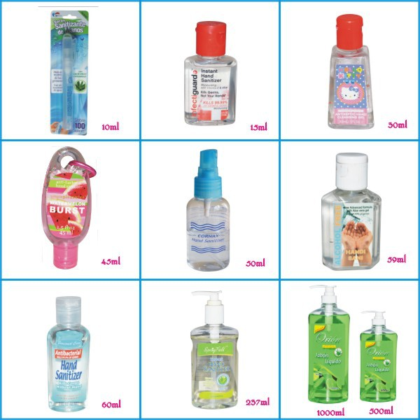 15 30 50 60 237 500 1000ML Waterless Hand Sanitizer