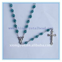colorful crystal bead rosary necklaces