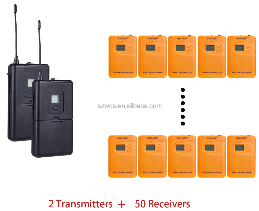 China factory wireless tour guide system/radioguide/whisper tour guide sy for visiting, AAA battery model WUS800R, 200-300meters