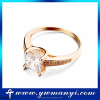 Cheap Fashion Wholesale Alibaba Wedding Jewelry simple zircon ring brand jewellery R445