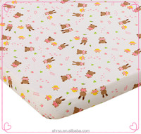 Cute animal design knitted jersey cotton baby fitted crib sheet cover
