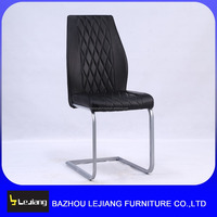 black metal frame comfortable Ergonomics restaurant dining chair