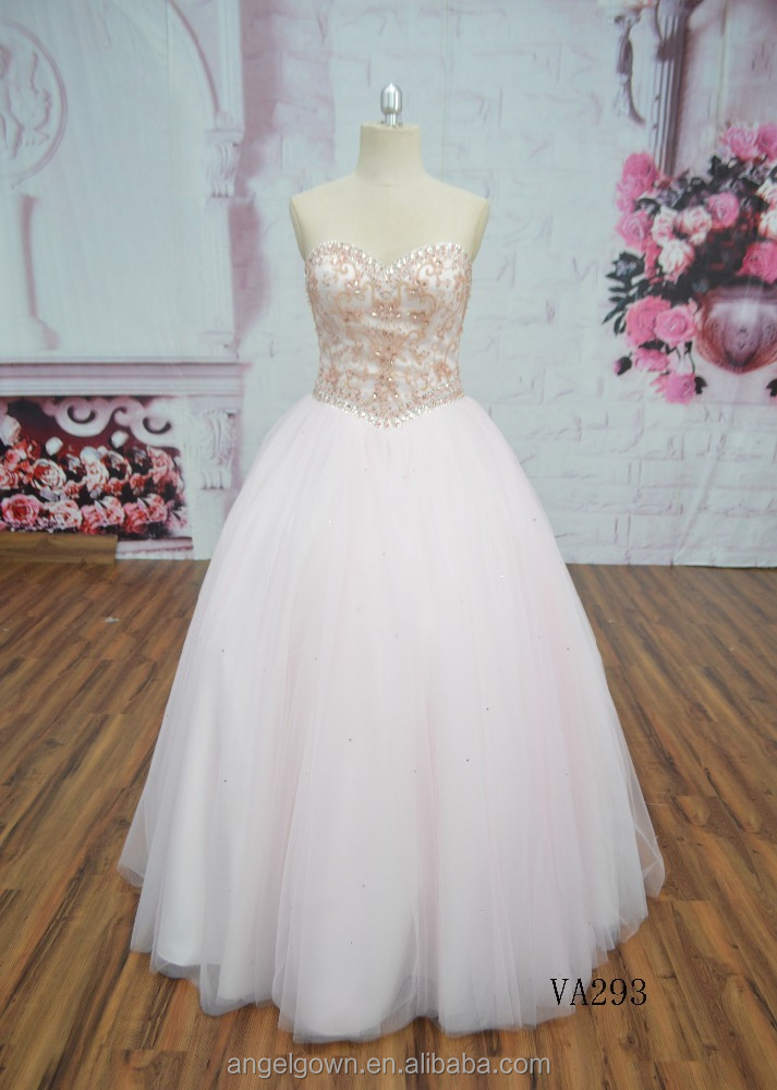 Ladies backless a line party wear gown formal wedding dress