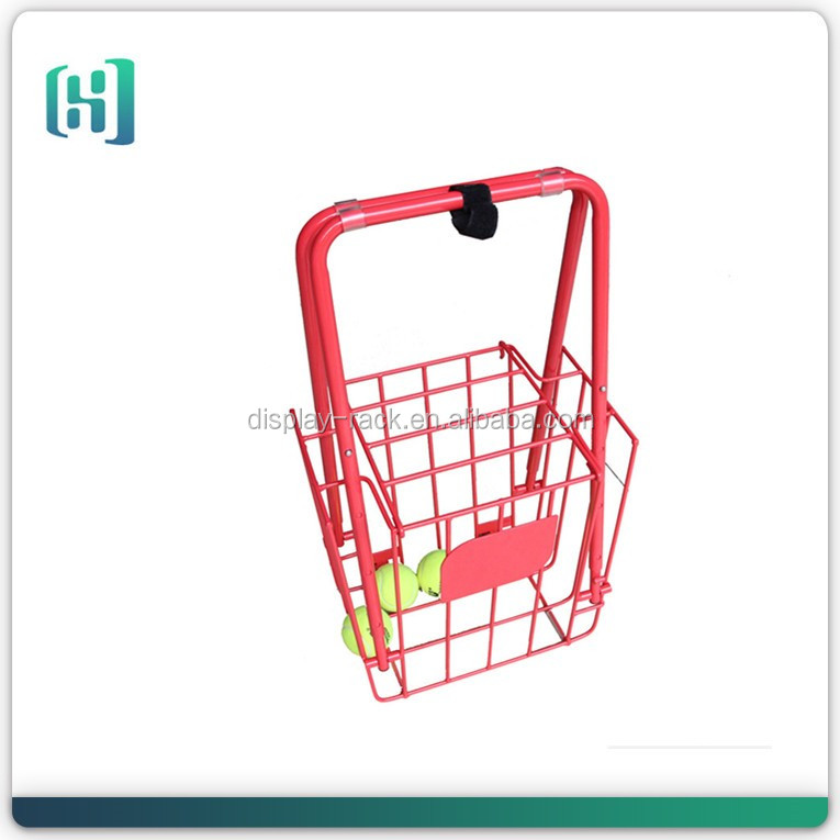 custom new styles hangting metal wire red tennis ball teaching cart