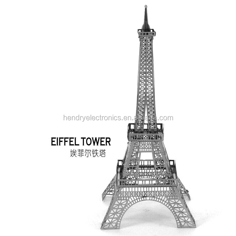 Hot item Effel Tower model 3d puzzle metal wire puzzle