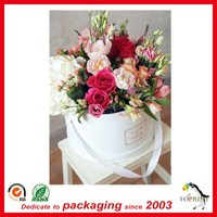 luxury flower paper shipping boxes round gift flowers box for flower packaging