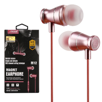 metal heavy bass headsets wired earbuds mobile earphone