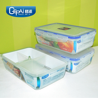 Microwave safe kitchen plastic ware food container with inner lattice
