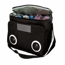 Nylon cooler bag with MP3 Speakers