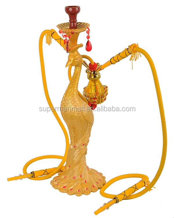 China factory fashion new design golden glass hookah