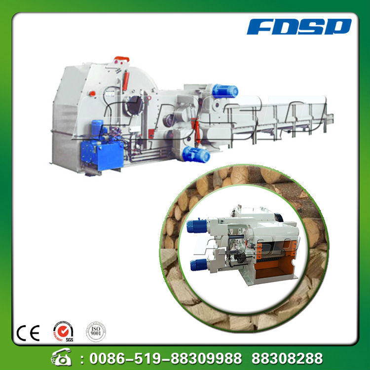 Wide suitability wood chipper for producing biomass pellets