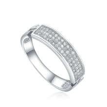 low cost designer 18k white gold couple ring