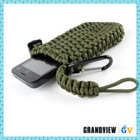 Useful smart paracord cell phone pouch,new design handmade mobile pouch,Woven paracord cell phone bag