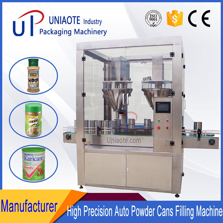 High Accuracy Double Auger Milk Coffee Protein Powder Filling Machine Auger Fillers