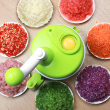 Creative household handy manual kitchen food chopper pull string vegetable chopper