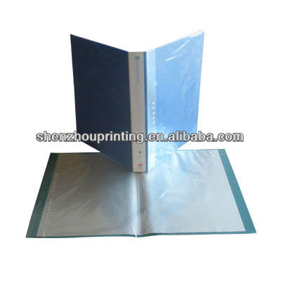 recycled material Some colorful transparent book in stock 20/30/40/60/80/100/PP clear display book