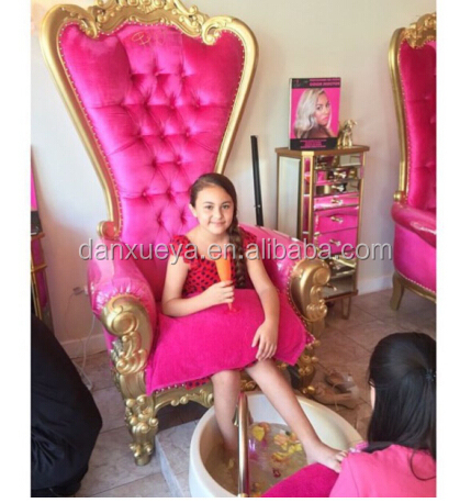 Pretty princess little girl throne chair luxury royaty for Sillas para pedicure