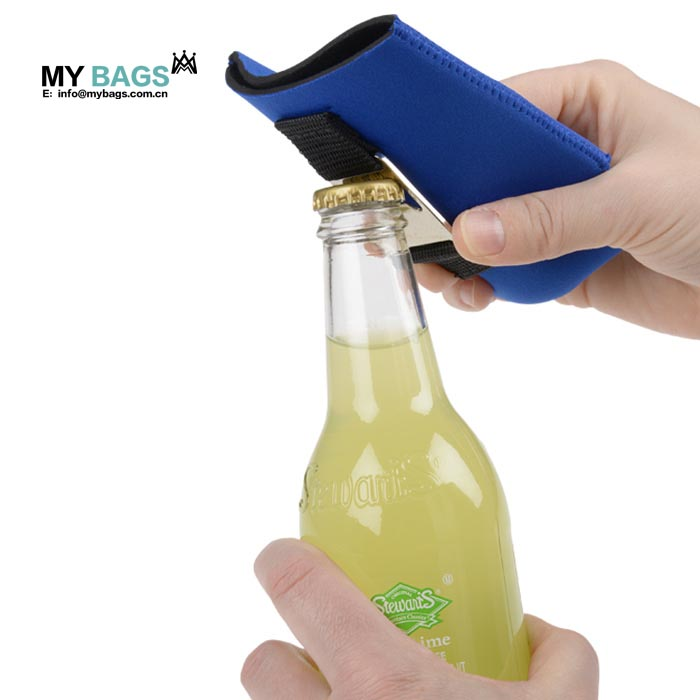 Insulated Neoprene Beer Bottle Beverage stubby can cooler with bottle opener