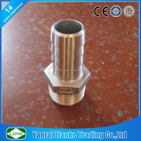 american standard stainless steel pipe BSP/NPT male hosetail hex hose nipple fitting
