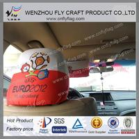 custom car headrest cover flags for decoration, promotion, adverstisement