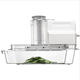 Electric Mandoline Vegetable Slicer 3-Chute & Pusher With Blades, Inserts, Slicer, & Grater
