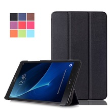 Smart stand slim PU leather cover case for 2016 Samsung Galaxy Tab A 10.1 T580/T585 tablet