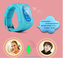 Gps watch kids tracking watch with sim card , child cell phone / website tracking