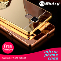 Wholesale designer luxury aluminum ultra-thin mirror metal case cover bumper mirror case with card holder for iphone 6