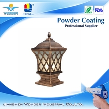 polyester copper gold powder coating for light