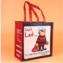 Customized PP Non-Woven Promotional Fashion Shopping Tote Bag
