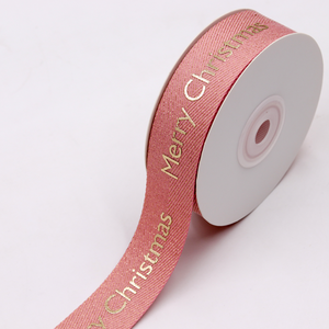 Oem custom logo printed celebrate it polyester cotton material ribbon