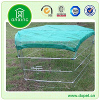 DXW004 Collapsible Metal Wire Pet Dog Crate with Slanted Side