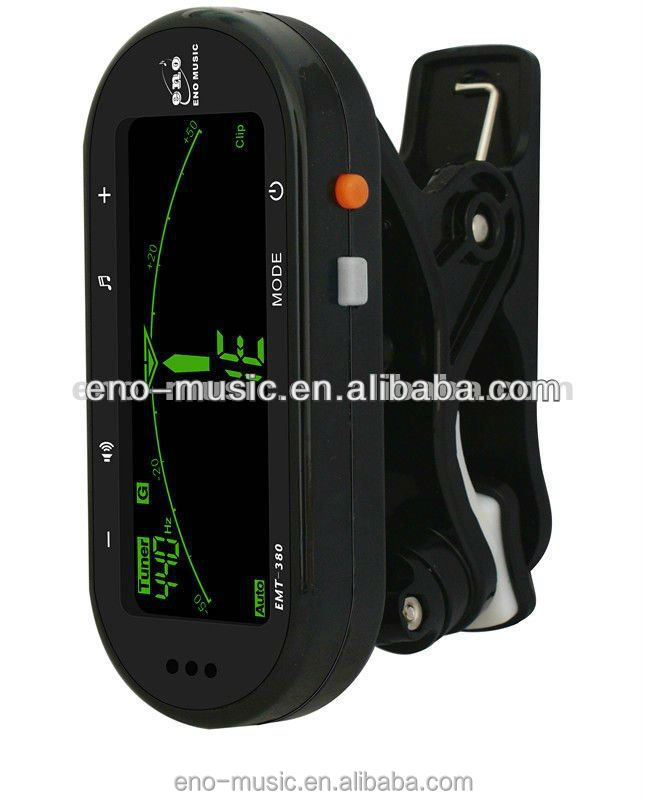 wholesale Clip on Metro-tuner tuner/metronome/tone generator with Large LCD for Guitar/Bass/Violin/Ukulele