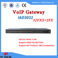 Fiber to the home VoIP Gateway 32FXS bridging or routing mode 32pots+2FE uplink