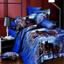 Home Textile 3d printing animal bedding set duvet cover bedsheet pillow case Alibaba China Supplier