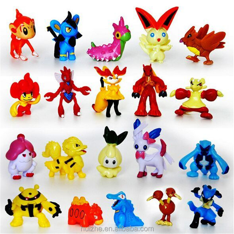 Cartoon Action Pokemon Figure Pokemon Plastic Toys For Kids Pocket Monster Pokemon Toys