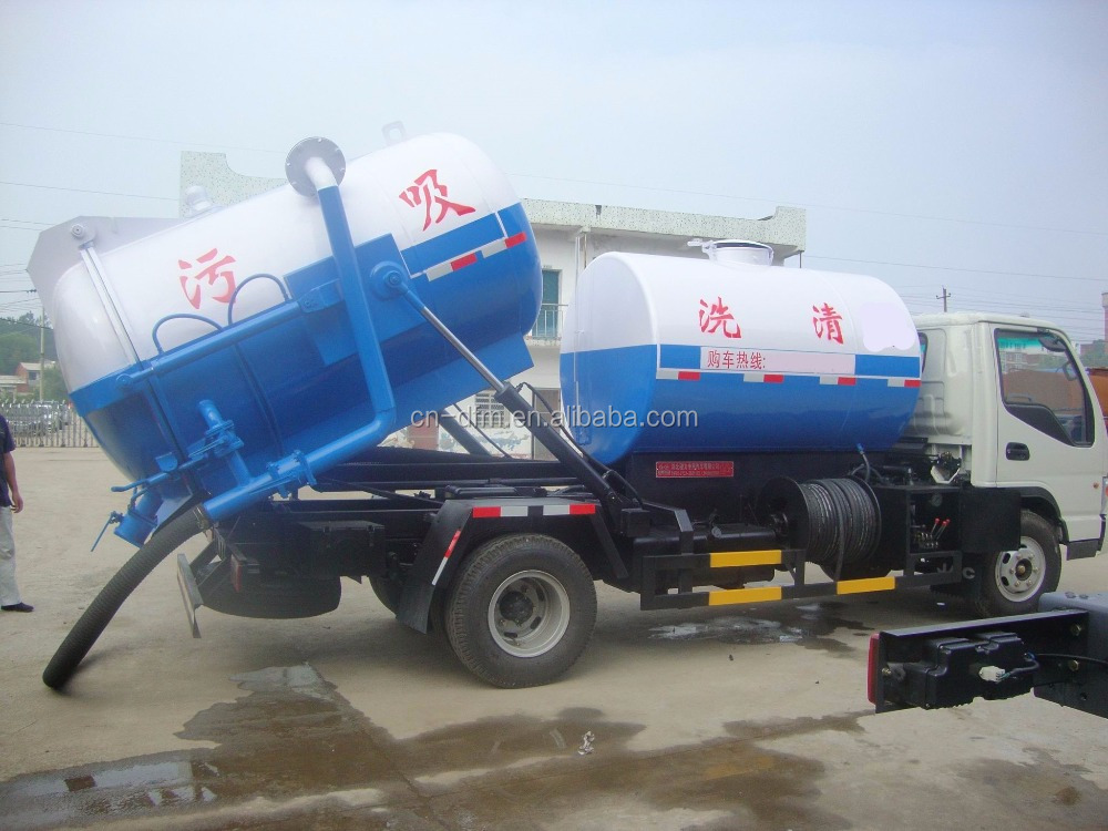 suction -type sewer scavenge truck with cleaning dunction