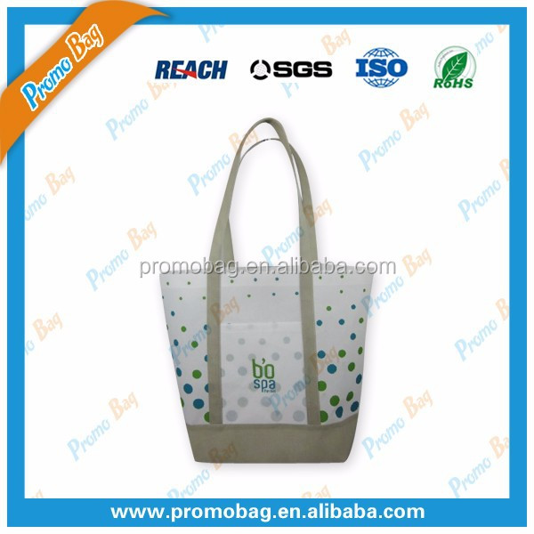 Fashion Nonwoven Shoulder Bag Nonwoven Tote Bag With Inside Lamination
