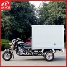 KAVAKI MOTOR Newest Model Army Green Ice Cream Cool Container / Refrigerated Tricycle / Heat Insulation Vehicle