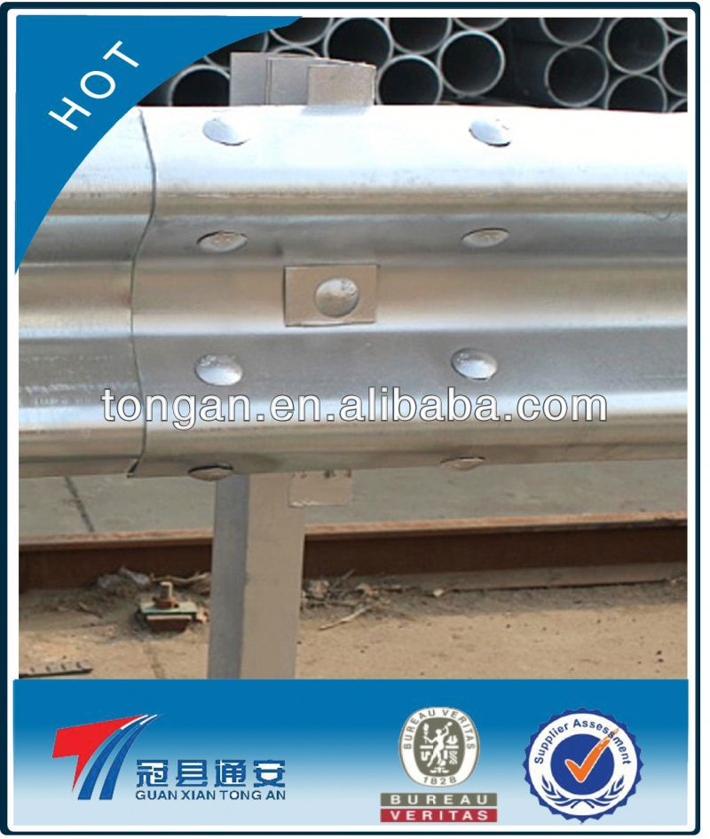 guardrail silvery white galvanized highway guardrail (factory price)