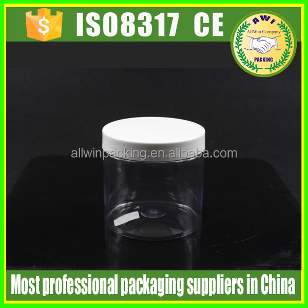 nuts wholesale plastic PET jars plastic PET apothecary jars